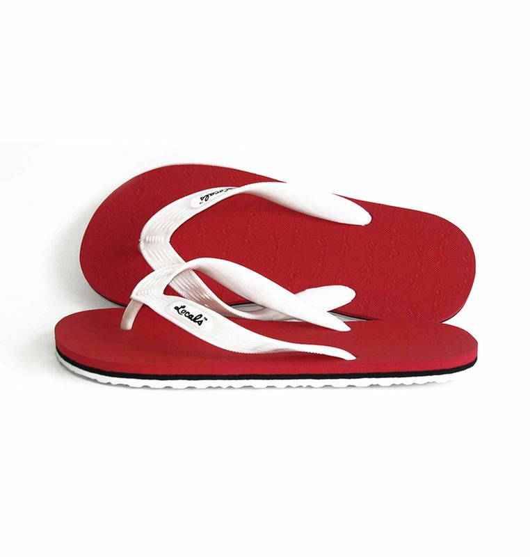'red' stripe slipper