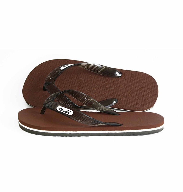 'brown' stripe slipper