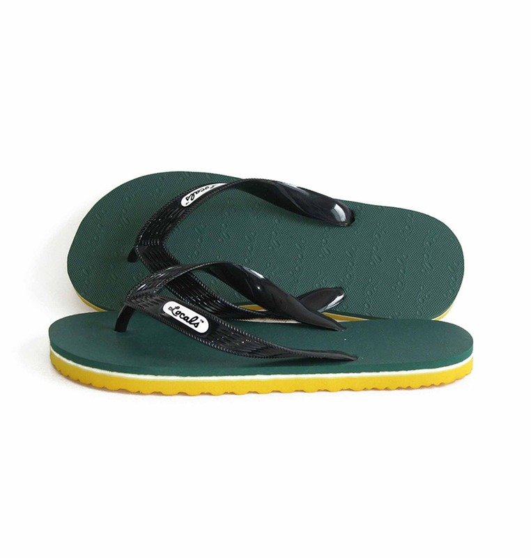 'green bay' stripe slipper