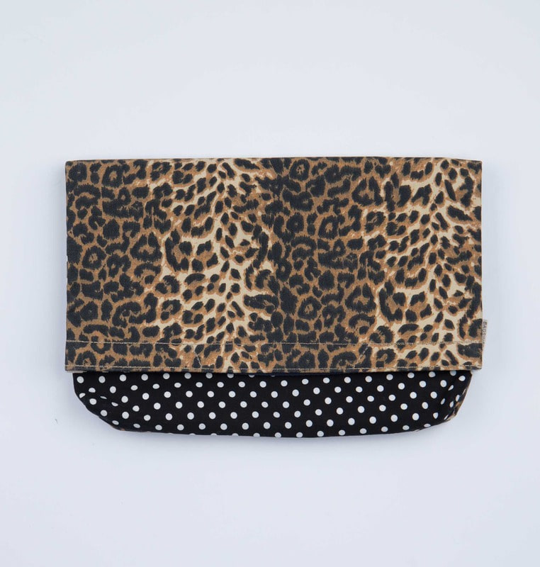 2-way clutch leopard & dots