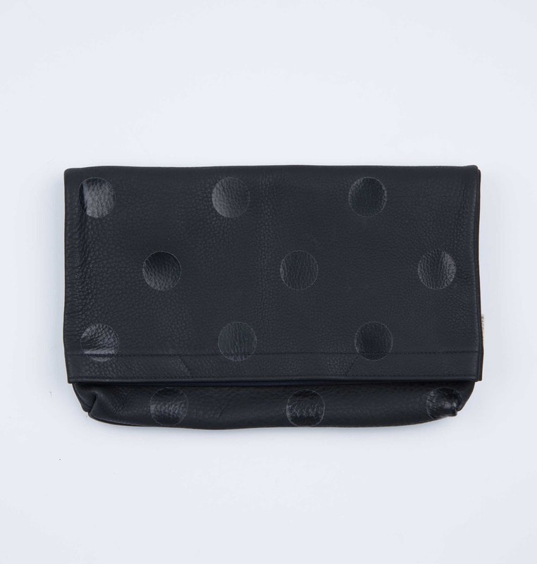 2-way clutch leather